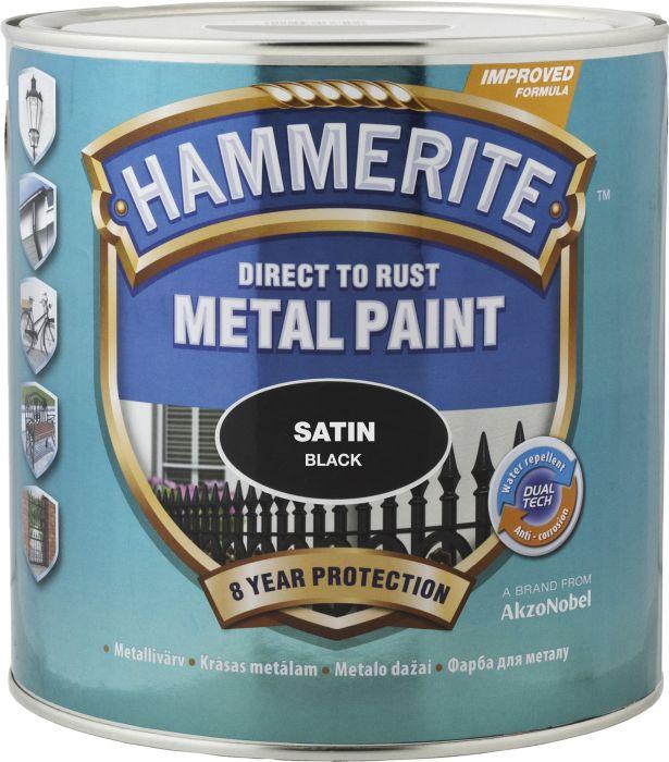 9503aa44918 Metallivärv Hammerite Satin 750 ml, must