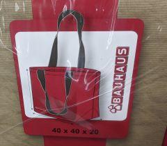 Riidest kott Bauhaus punane 40 x 40 x 20 cm