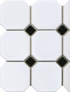 Mosaiik Octa 30 x 30 cm Must