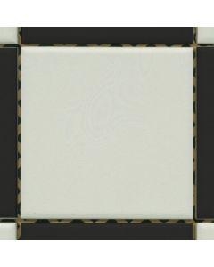 Mosaiik-põrandaplaat Must-valge