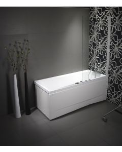 Dušisein vannile 86 x 150 cm läbipaistev