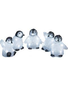 Akrüülfiguur Pingviinid Konstsmide 5-osaline