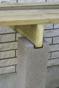 4 Kergehitise alusposti betoonist 150 x 150 x 800 mm