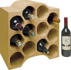 2 veinipudelite riiulit