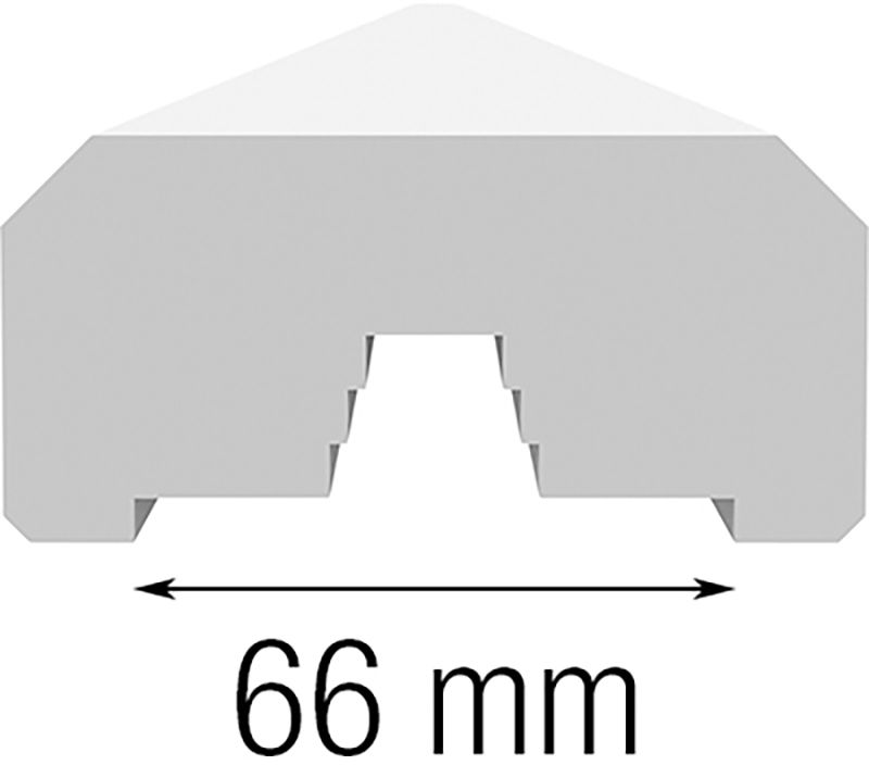 Piirde alajooks, käsipuu 45 x 95 x 2400 mm