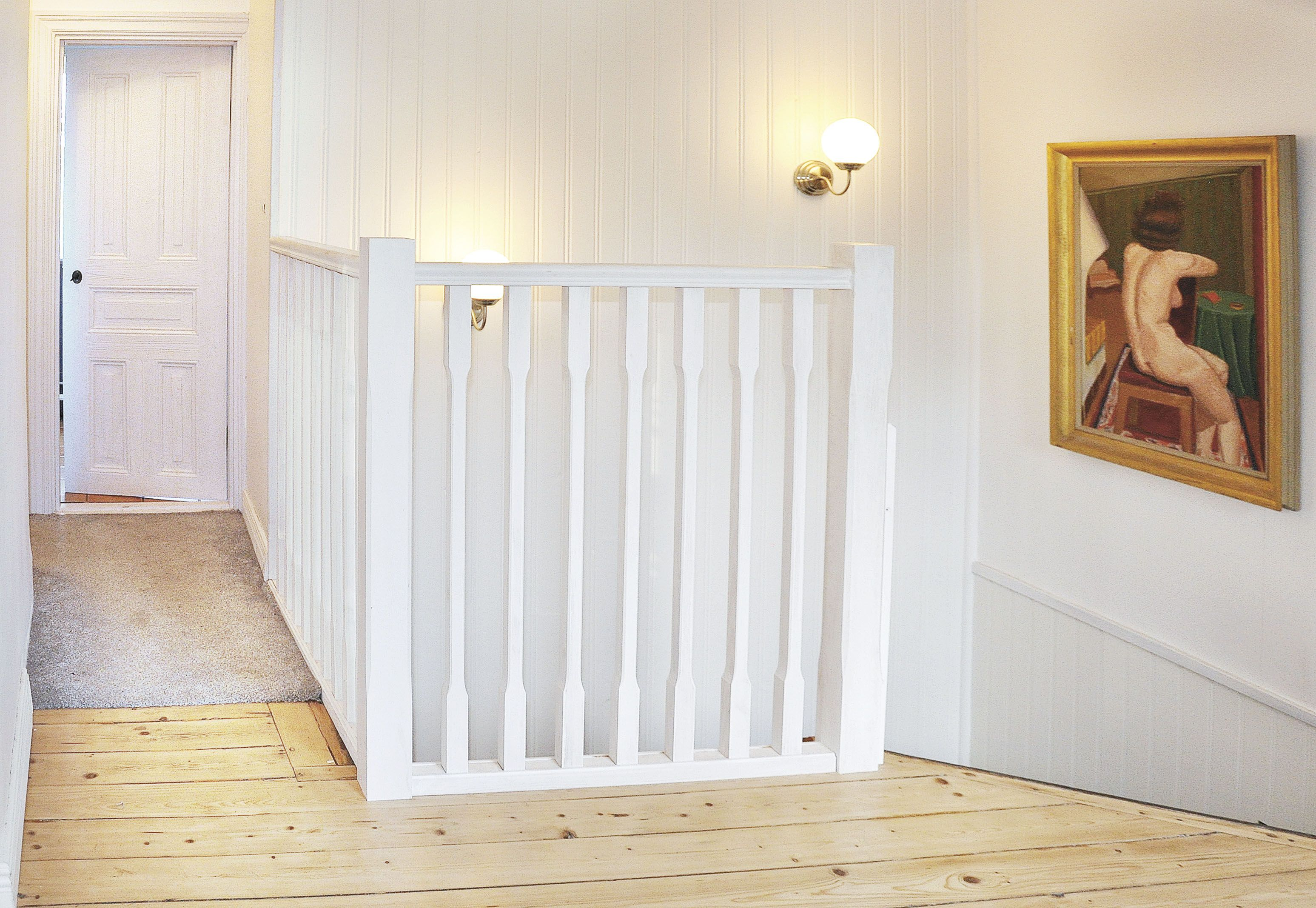 Käsipuu Helsinki valge, 45 x 70 x 2300 mm