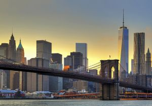 Fototapeet Brooklyn Bridge At Sunset