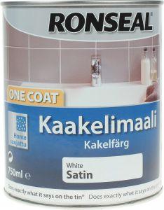 Kahhelkivivärv Ronseal Valge 750 ml