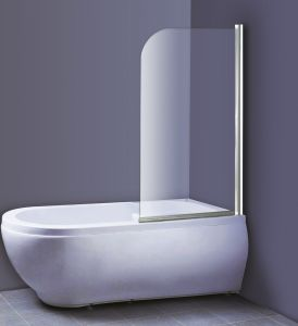 Dušisein vannile Clear 130 x 75 cm valge