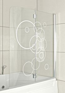 Dušisein vannile Circles 125 x 140 cm