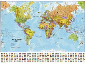 Korktahvel Maailma kaart värviline