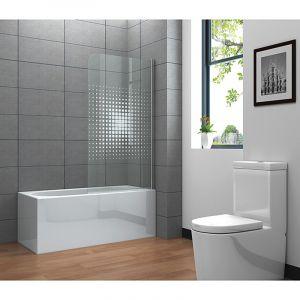Dušisein vannile Cube 80 x 140 cm