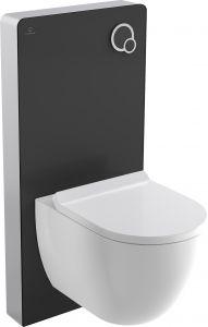 Loputussüsteem seinapealsele WC-potile must