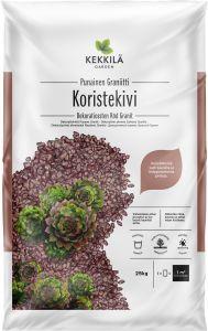 Dekoratiivkivi punane graniit 25 kg