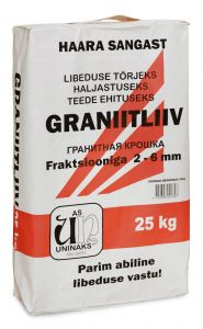 3 pakki Graniitliiva 25 kg