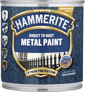 Metallivärv Hammerite Hammered 250 ml, must