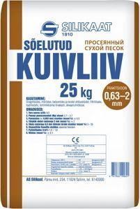 Sõelutud kuivliiv 0,63 - 2,0 mm 25 kg