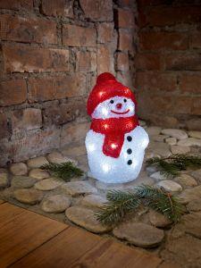 Jõulufiguur Lumememm kõrgus 22 cm,22 LEDi