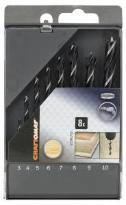 Puidupuuride komplekt Craftomat 8-osaline 3-10 mm