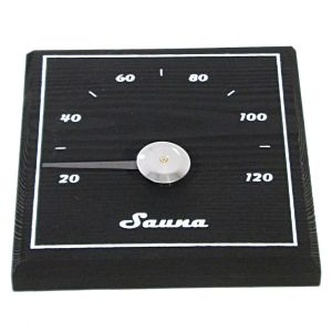 Sauna termomeeter ruudukujuline must