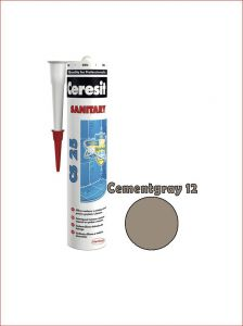 Sanitaarsilikoon Ceresit CS25 280 ml, Cementgray 12