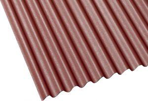 Bituumenlaineplaat 3 x 830 x 2000 mm, punane