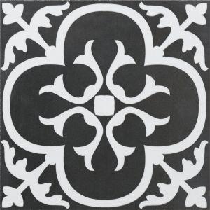 Dekoorplaat Ciment Floral 20 x 20 cm