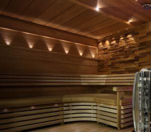 Kiudoptiline saunavalgustite komplekt VPL25-E161