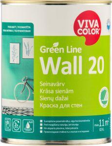 Seinavärv Green Line Wall 20, poolmatt