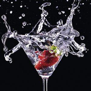 Klaaspilt Cocktail Splash Strawberry