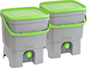 Köögikomposter Bokashi Organko hall/roheline