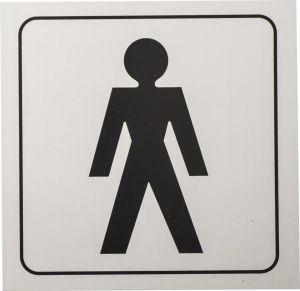 Kleebis meeste WC 9 x 9 cm