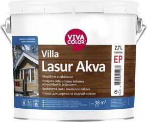 Veepõhine puidulasuur Villa Lasur Akva 2,7 l