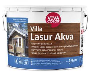 Veepõhine puidulasuur Villa Lasur Akva 9 l