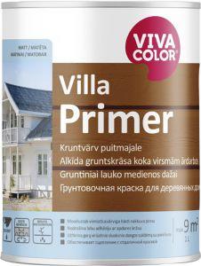 Kruntvärv puitpindadele Villa Primer 0,9 l