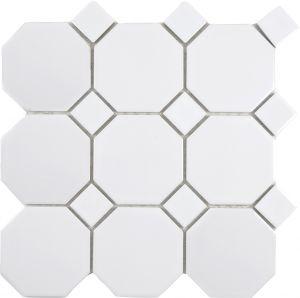 Mosaiik Octa valge 30 x 30 cm