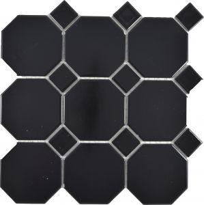 Mosaiik Octa must 30 x 30 cm