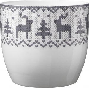 Ümbrispott Basel Knitted Elk Gray Ø 14 cm