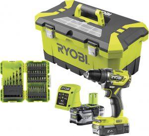 Akutrell Ryobi ONE+ R18DD5-242T38, 18 V + 2 Ah ja 4 Ah