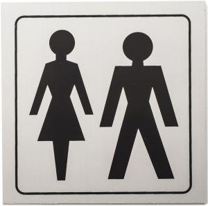 Kleebis WC 9 x 9 cm