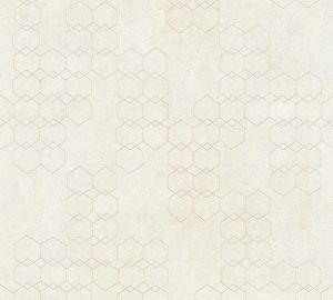 Fliistapeet New Wall geomeetria, helebeež