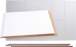 Lae- ja seinapaneel MDF valge 8 x 185 x 2070 mm