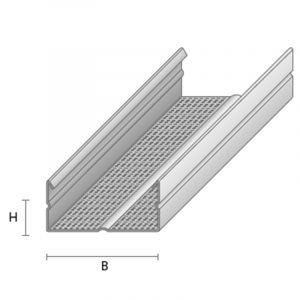 Teraskarkass- kipslaeprofiil CD-60/27 2600 mm 0,5 ZN