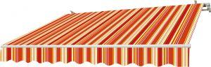 Liigendmarkiis Sunfun Multicolor  4 x 2,5 m