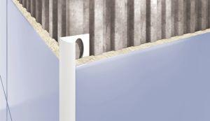 Plaadiliist PVC välisnurk helehall 10 mm