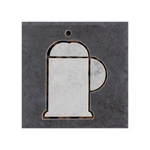 Dekoorplaat Sforza B 10 x 10 cm