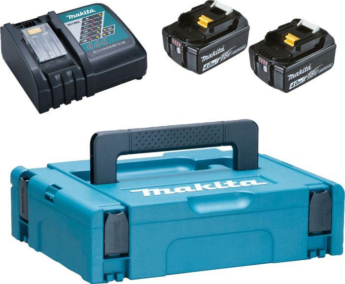 Akude ja laadija komplekt Makita PowerPack, 18 V 2 x 4 Ah