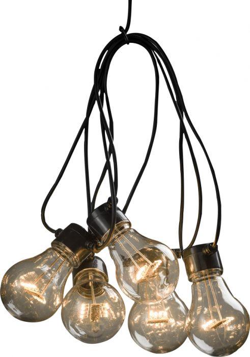 LED-valgussari Konstsmide amber 10-osaline