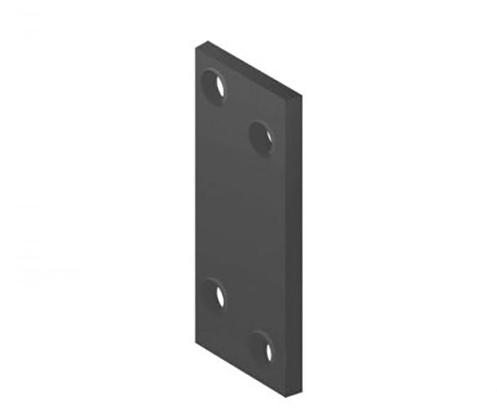 Fersengitud avadega naelutusplaat 80 x 20 mm must