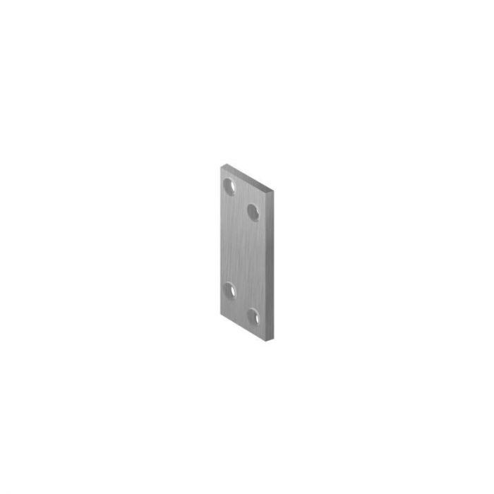 Fersengitud avadega naelutusplaat 80 x 20 mm hall